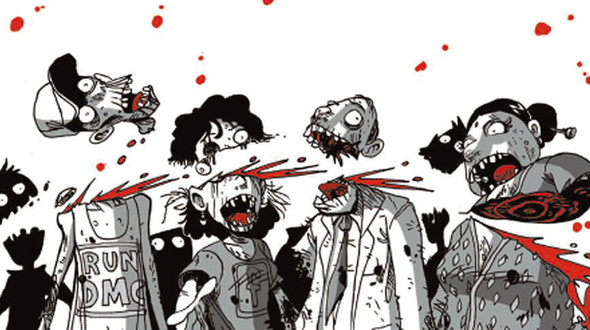 Adesivo angry birds zombie stickersmurali