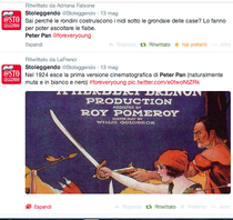 Uno dei tweet da #readerguest di Edoardo Brugnatelli