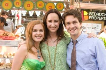 "Sophie Kinsella sul set di ""I love shopping"""