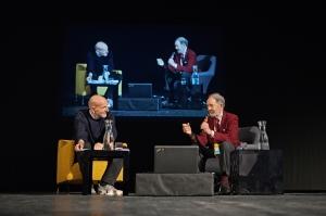 Marino Sinibaldi intervista Jared Diamond - Internazionale a Ferrara 2015